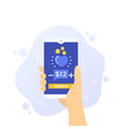 donation app phone in hand art vector image vector image