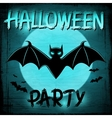 EPS 10 Halloween background with moon and bats vector image vector image