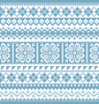 fair isle knit traditional seamless pattern vector image vector image