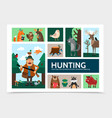flat hunting infographic template vector image