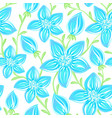 floral seamless pattern hand drawn flowers vector image