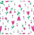 flower with pink petals pattern on white vector image vector image