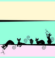 frame with black cats vector image vector image