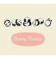 Funny Pandas set vector image vector image