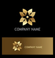 gold abstract flower geometry logo vector image vector image