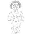 Hand drawn monochrome of nude woman mother vector image vector image