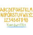 hand witten fun alphabet vector image vector image