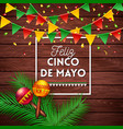happy fifth may mexican greeting card or poster vector image