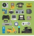 Hipster tech gadget icons vector image vector image