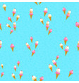 ice cream cone pattern background for summer vector image