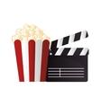 icon pop corn cinema design vector image