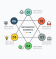 infographic elements and colorful icons on white vector image vector image