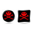 jolly roger buttons vector image vector image