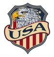 logo eagle head americas logo mascot vector image vector image