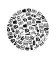 money icons in circle vector image vector image