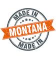 Montana orange grunge ribbon stamp on white vector image vector image
