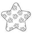pattern shape star with geometric memphis style vector image