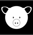pig head the white color icon vector image