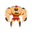 powerful wrestler character professional fighter vector image vector image
