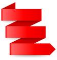 Red paper arrow vector image vector image