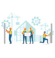 repairer and contactor building project vector image