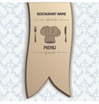 restaurant menu label brochure design element vector image vector image