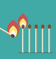 row of matches vector image vector image