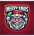santa esport mascot logo design vector image vector image