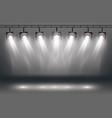 scene illumination effects with spotlights vector image vector image