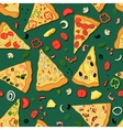 Seamless texture of a pizza vector image vector image