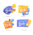 season sale stickers collection isolated on white vector image