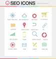 SEO Google like icons set volume 1 vector image