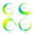 set colorful circle abstract frames vector image