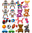 set of different toys vector image vector image