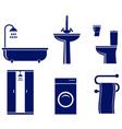 set of isolated bath objects vector image vector image