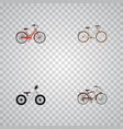 set of realistic symbols with old retro cruis vector image vector image
