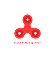 simple red hand fidget spinner logo vector image