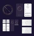 tailor studio logo atelier emblems vector image