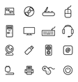 thin line icons - computer vector image vector image