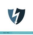 thunderbolt icon logo template design eps 10 vector image vector image