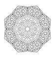 traditional round ornament oriental pattern vector image