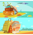 Travel Banners Set vector image vector image