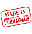 United Kingdom - made in red vintage isolated vector image vector image