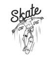 vintage monochrome skateboarding logo vector image vector image