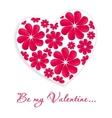 Valentines heart vector image