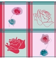 seamless pattern with watercolor rose vector image