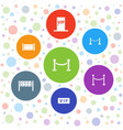 7 vip icons vector image vector image