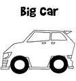 Big car art vector image vector image