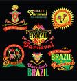 brazilian carnival big set brazilian templates vector image vector image