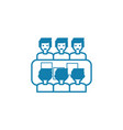 business meeting linear icon concept business vector image